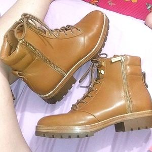 Leather combat boot Michael kors boots luxury boot